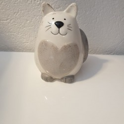 Tirelire chat taupe