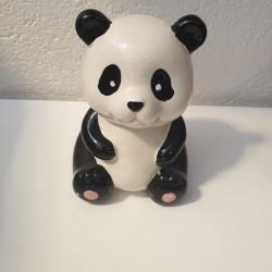 Tirelire panda noir